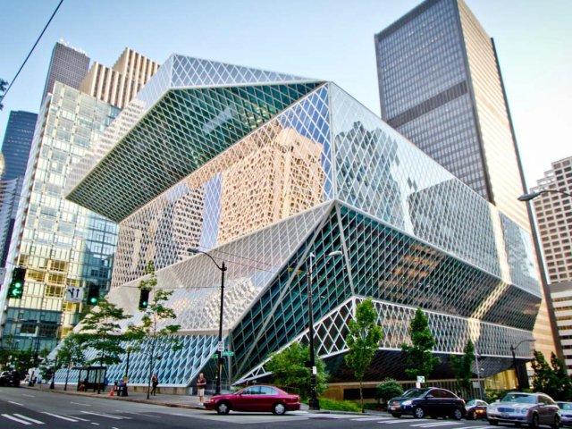 西雅图好店推荐5-西雅图公共图书馆