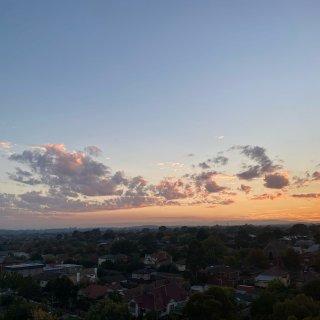 博士山的日出日落...