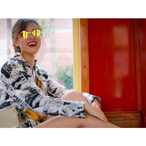 夏日穿搭| Zara涂鸦黑白衬衫