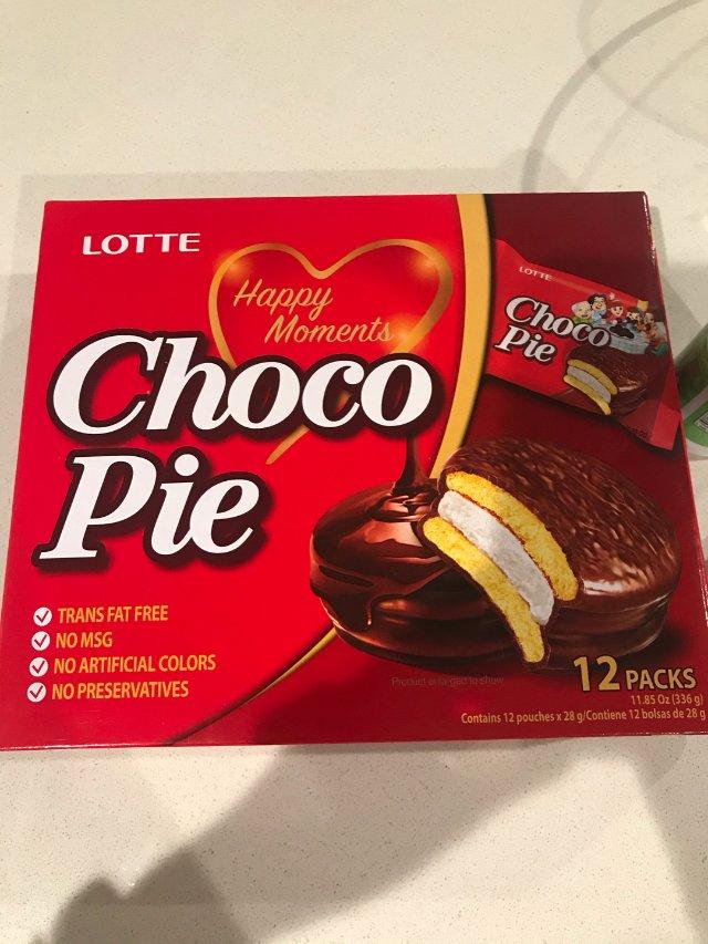 乐天巧克力派,一直很爱的小零食