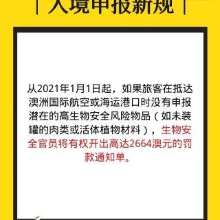 明年1月1日生效!违规携高生物安全风险物...