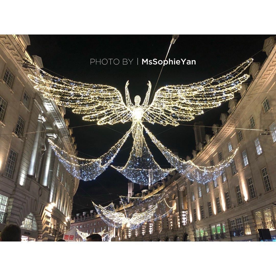 伦敦摄政街点灯