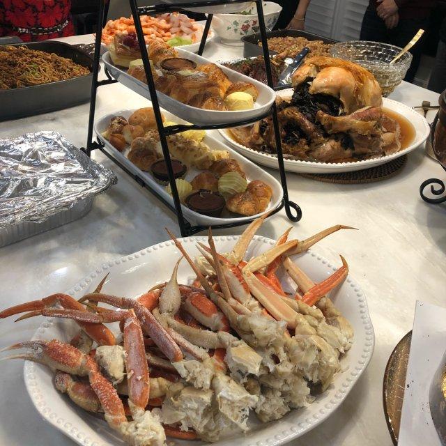 极度丰盛的感恩节大餐