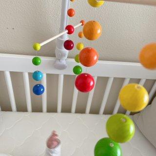 ♡婴儿床装饰|Haba 彩虹球挂件...