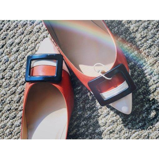 【5月晒货挑战#29】Roger Vivier低跟方扣高跟鞋