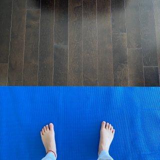 瑜伽打卡第一天,我用心了🧘🏼♀️...