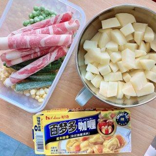 美食分享 土豆牛肉咖喱饭 🍛...