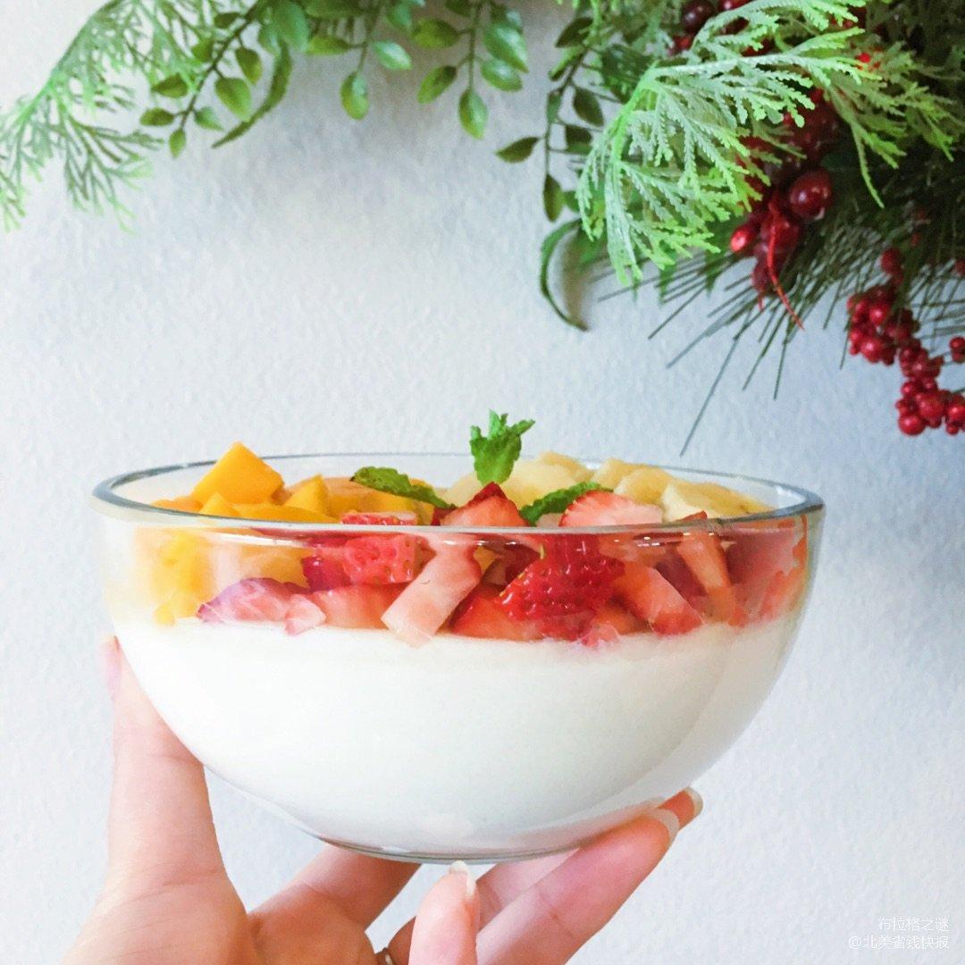 ✨低脂高蛋白 | 水果双皮奶✨