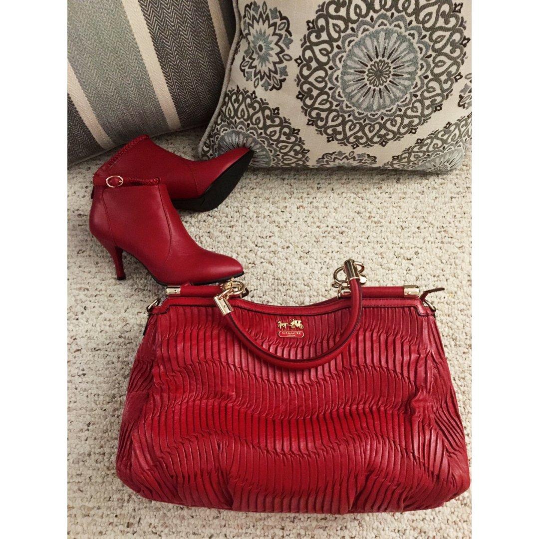 珍藏版 包包鞋子一个色之 【大红色】