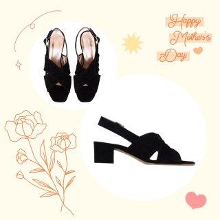 Uliana Black - Suede Sandals   MIRTA