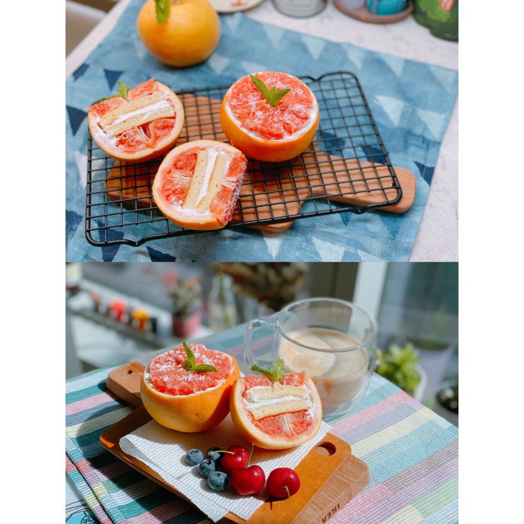 高颜值低脂低糖蛋糕甜品|酸奶西柚蛋糕...
