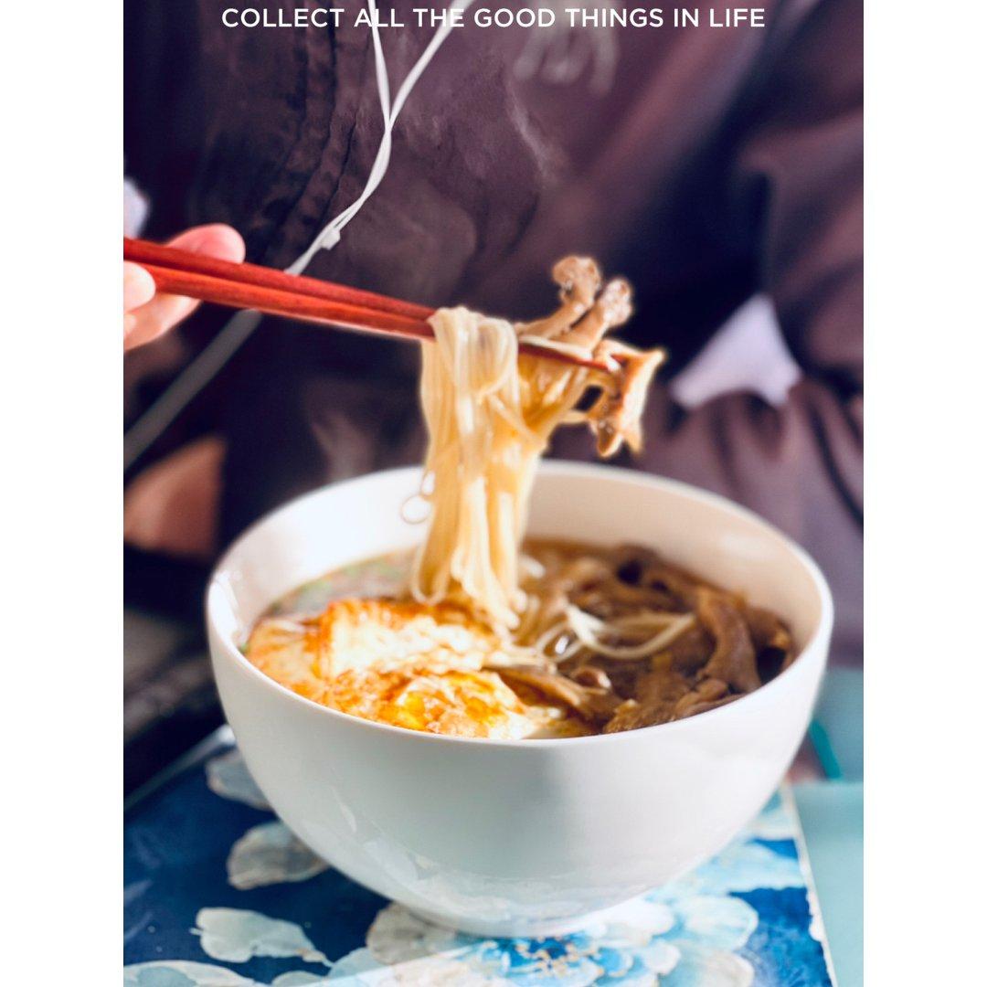 仙儿厨房|蚝菇面,早晨来一碗温暖的阳光☀...