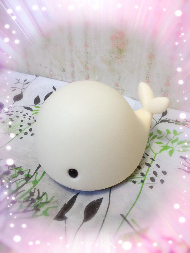 可爱鲸鱼小夜灯!