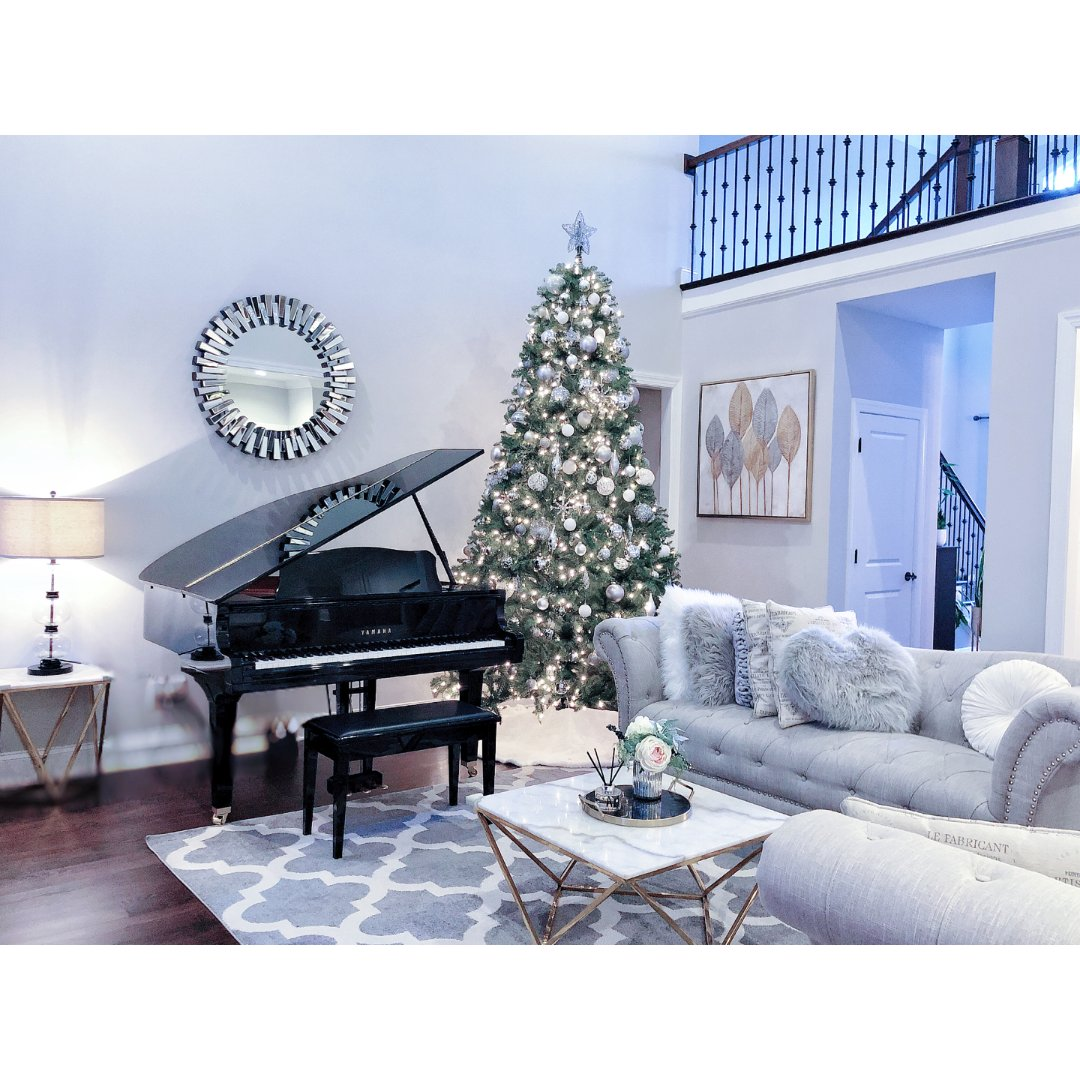 家居一角|美美的大圣诞树