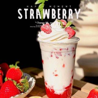 遇见家居美学  草莓牛乳茶➕草莓果酱🍓...