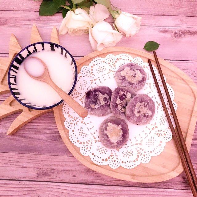 低脂健康懒人版紫薯饼