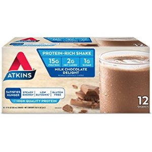 $14.95Atkins Ready to Drink Protein-Rich Shake Milk Chocolate Delight 12 Count