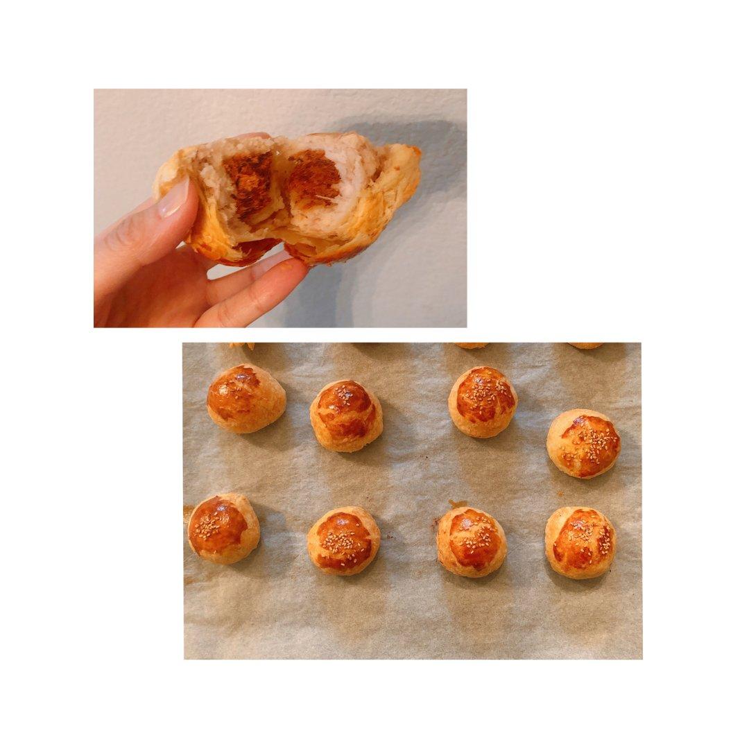 芋头肉松酥🍘 不用和面,超简单😋