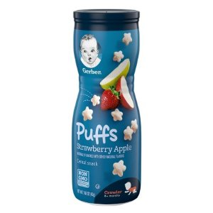 Gerber Puffs Strawberry Apple - 1.48oz : Target