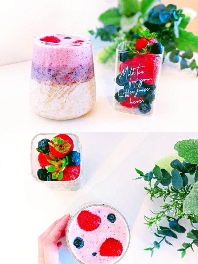 #5分钟快手早餐  综合莓果渐层燕...