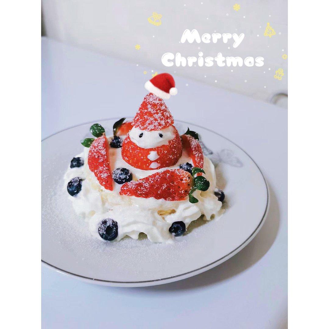 ⛄️圣诞雪人松饼蛋糕...