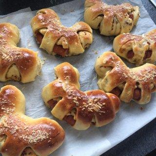 芥末籽香肠面包