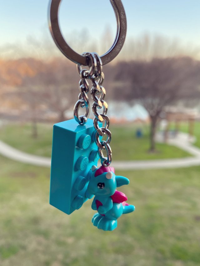 可以拼搭的乐高钥匙链
