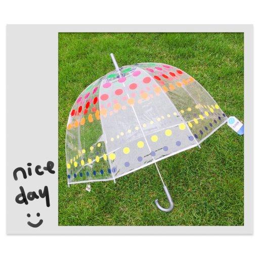下雨也好心情的泡泡雨傘