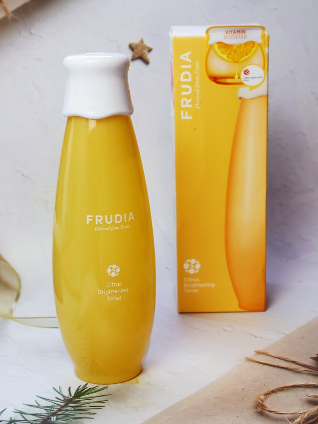 FRUDIA香橙🍊美白爽肤水初体验