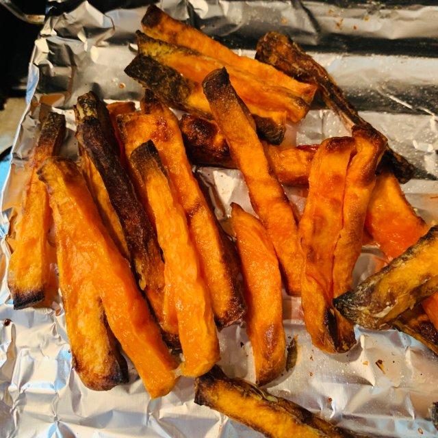 如何在家自己烤甜薯
