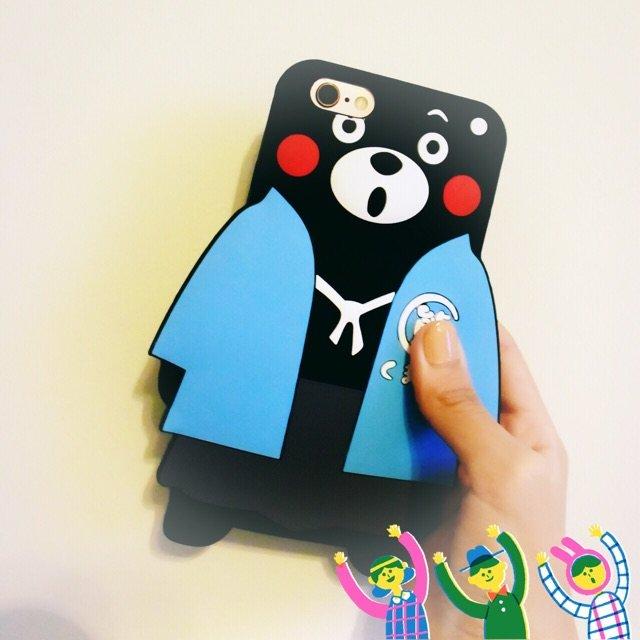 ❥Kumamon 熊本硅胶手机壳❥...