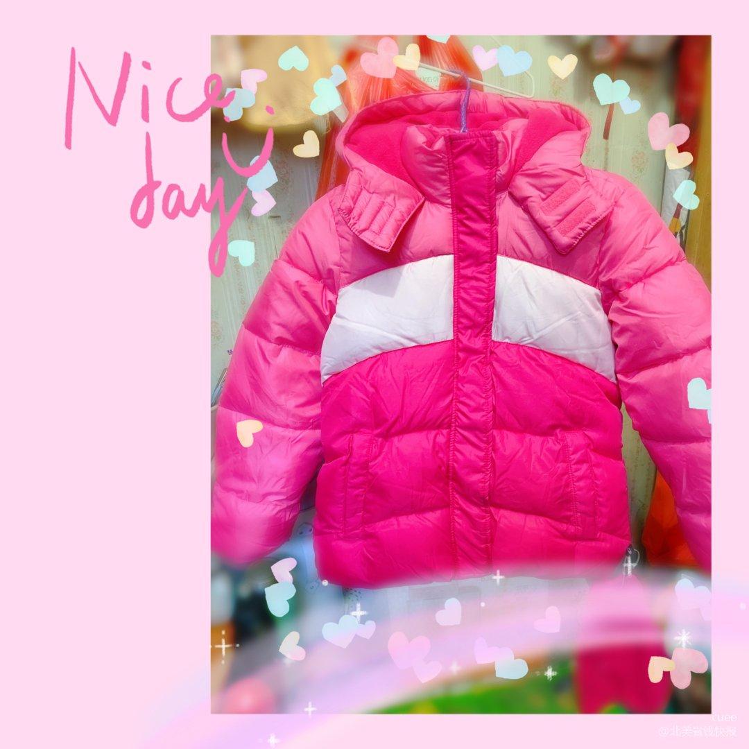 给女儿囤的粉色棉衣到货啦!