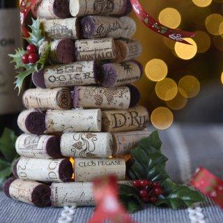圣诞装饰|红酒塞做的酒瓶装饰🍾...
