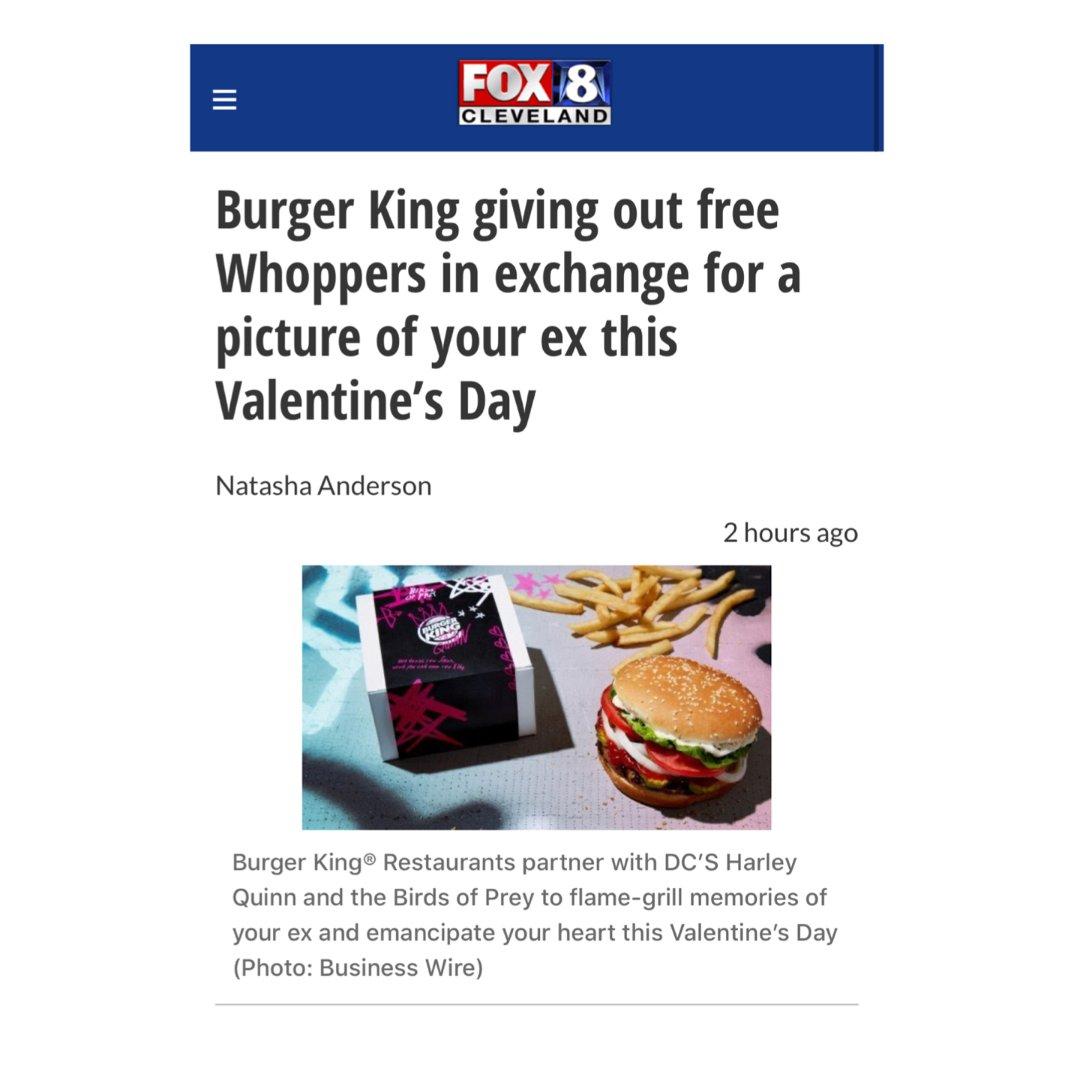 免费领 Burger King 2...