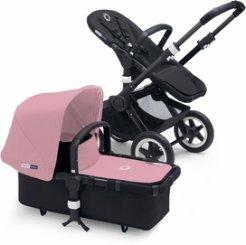Bugaboo Buffalo Stroller - All Black/Pink