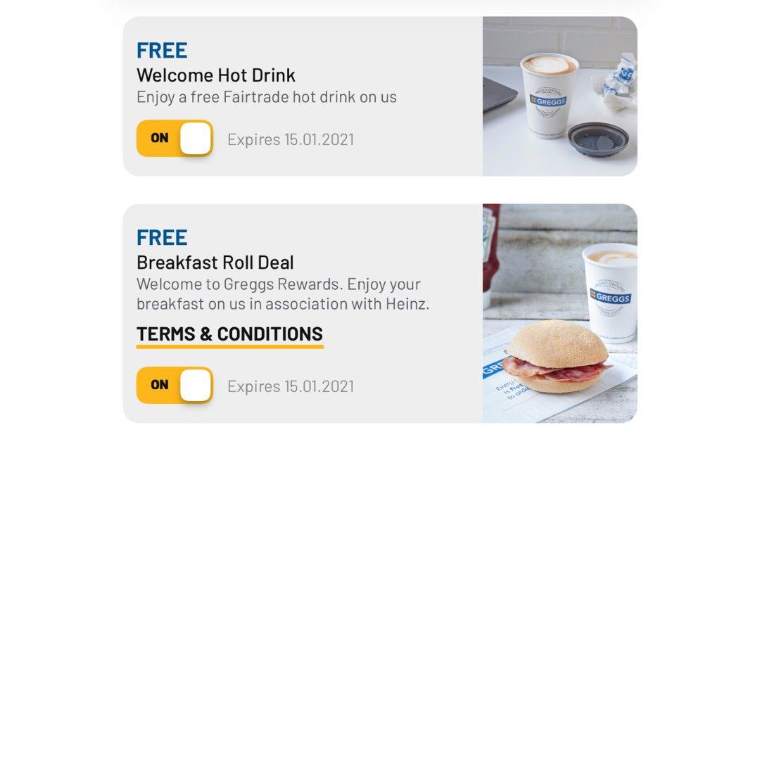 Greggs免费送热饮早餐☕️...