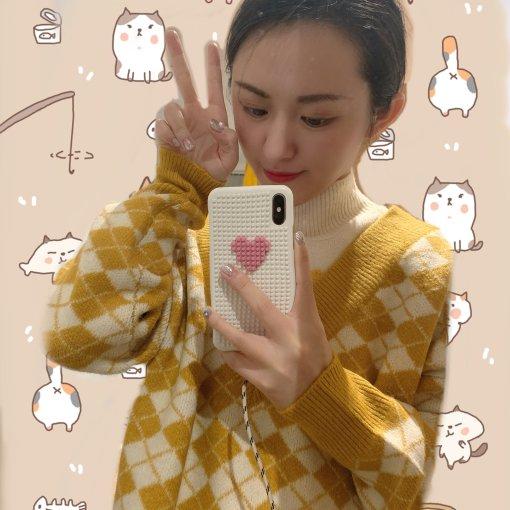 Miss Patina 黄色菱形格小松鼠毛衣 🐿️