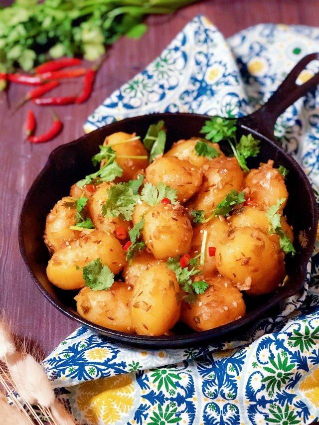 孜然香辣小土豆,太好吃了😋
