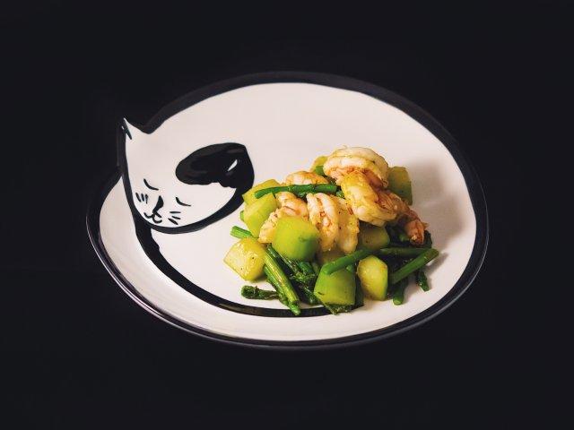 十分钟减脂餐 | 芦笋黄瓜虾仁