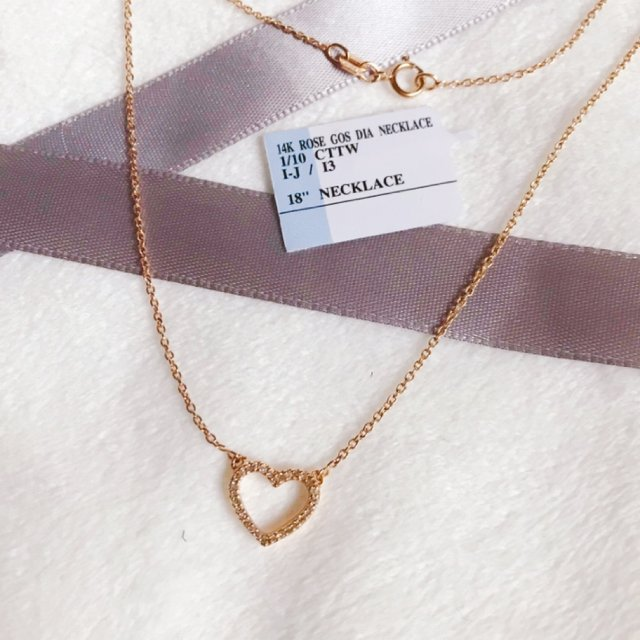 首饰 项链不嫌多之爱心项链