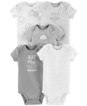 Carter's Baby Boys & Baby Girls 5-Pk. Cotton Bodysuits Kids & Baby - All Baby - Macy's