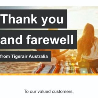 澳洲虎航宣布停运,向顾客发道别邮件...