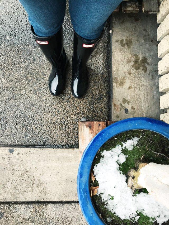 下雨了,水鞋出場了