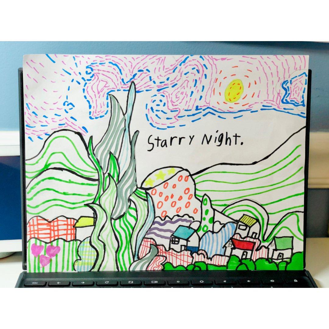 美术宝 | 梵高《星空》Starry N...