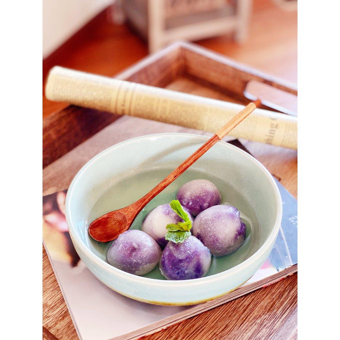 元宵佳节 |紫薯水晶汤圆