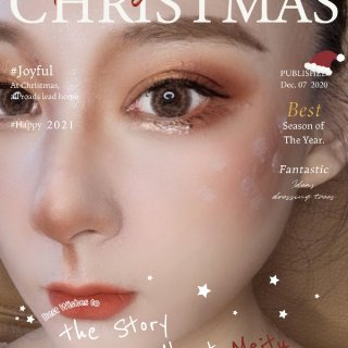 """🦌圣诞节麋鹿妆""""保姆级""""教程  👀 眼妆..."""