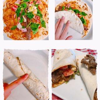 低卡牛肉卷饼 | 料足超级美味,好吃不胖...