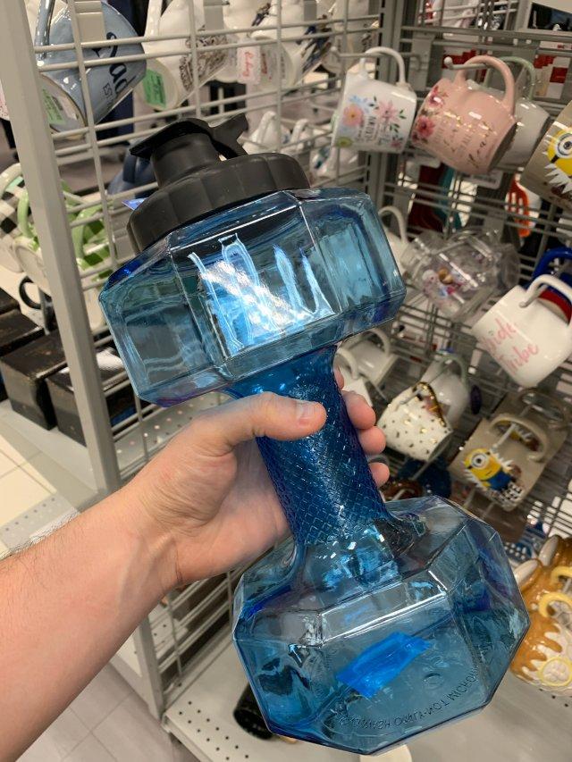 哑铃形状的瓶子