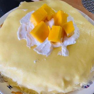 0⃣️失败芒果千层蛋糕|小白也易上手|奶...