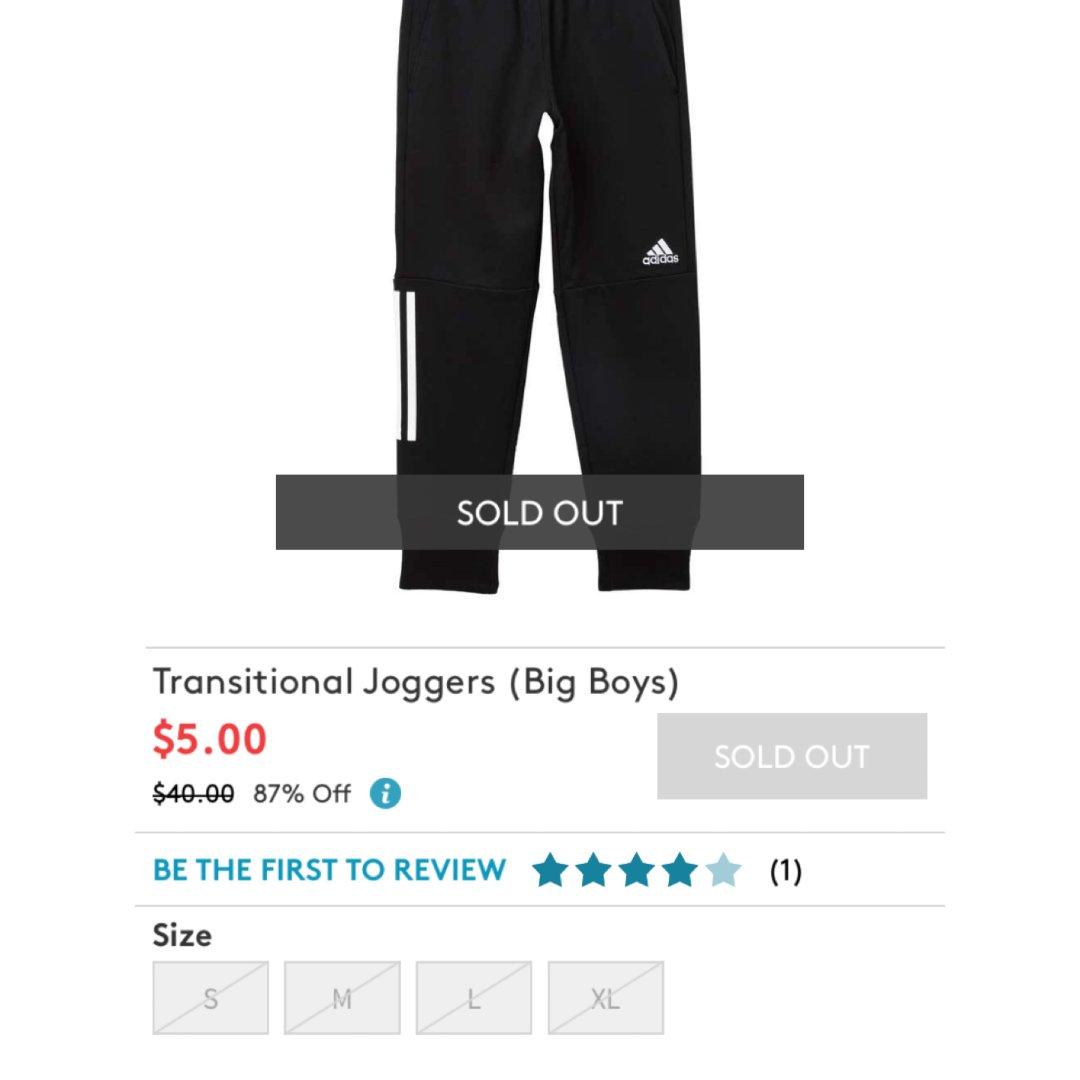 黑五抢的数量最多的adi运动裤
